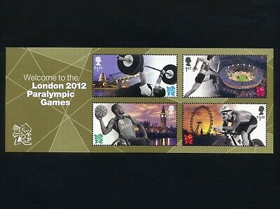 GB 2012 Welcome to London Paralympic Games Miniature sheet SG MS3371 MNH / UMM