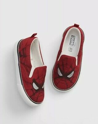 Gap Baby Boy / Toddler Marvel Slip On Sneakers Shoes Red Size US 8 / EU 25 NWT