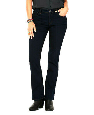 Style & Co Women's Blue Bootcut Tummy-Control Stretch Jeans Size 8 Short $49