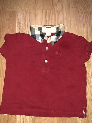 Burberry Children Baby Boy Shirt Set Sz 12 Months Chambray Polo