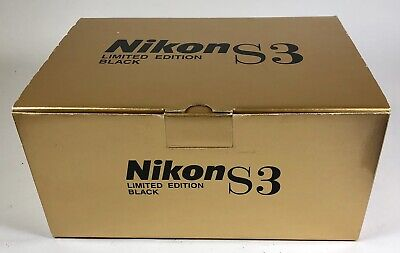 Nikon S3 limited edition black paint complete empty Box set (super rare)
