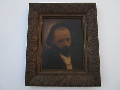 Antique 19Th Century Masterful Mysterious Portrait Painting Intriguing Sitter