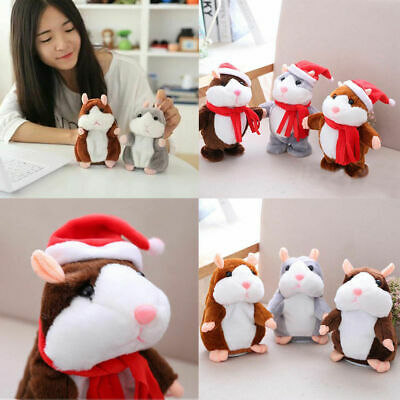 Funny Cheeky Hamster Talking Mouse Pet Christmas Toy Speak Sound Hamster Gift