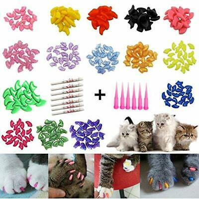 120 Pack Cat Nail Caps Colorful Pet Cat Soft Claws Nail Covers for Cat Claws