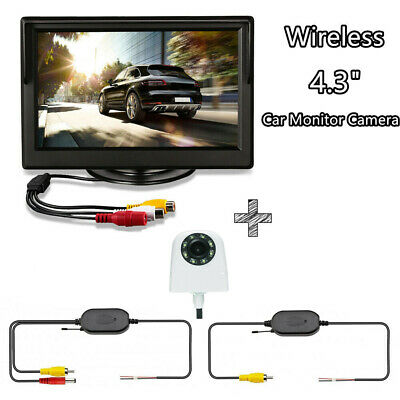 """Wireless 4.3"""" Car Rear View Monitor System Backup Reverse Camera NightVision Kit"""