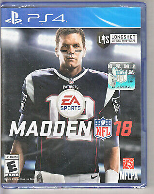 Madden NFL 18 (Sony PlayStation 4 PS4, 2017) FACTORY SEALED! NEW! USA SELLER!