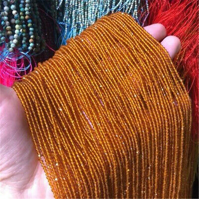 2mm Natural Orange Faceted Spinel Loose Beads Making Jewelry 15 inches Craft