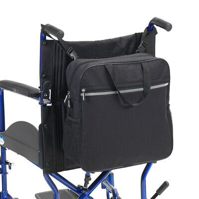 Wheelchair Back Pack Shopping Bag with Carry Handle, Black ,Waterproof #HID