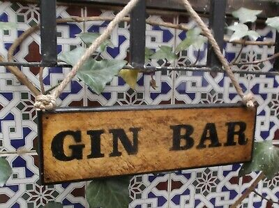 Gin Bar Wooden Sign, Drink, Bar, Restaurant Decor , Drinks Bar Sign, Bar Decor