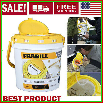 Frabill Deluxe Bait Lid w// 6 Gal Aeration Pack Fish Live Fishing Minnow Bucket .