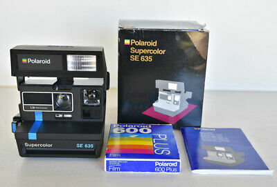 Polaroid Supercolor SE 635 Instant Camera ~ Like New Working