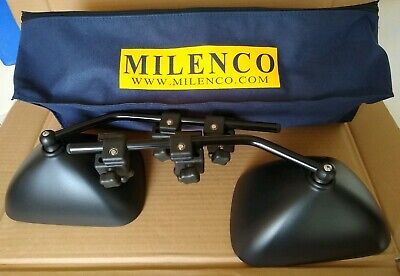 Milenco Grand Aero 3 Flat Towing Mirrors With Carry Bag Excellent Used Condition