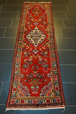 Alter Handgeknüpfter Perser Orientteppich Malayer Sarough Läufer Carpet 265x80cm