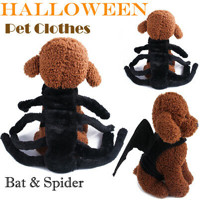 Cosplay Dog Cat Funny Clothing Black Spider Bat Wings Halloween Pet Gift Costume