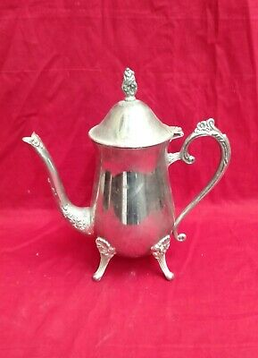 Antique Silver plated Kettle Rare Vintage Handle Coffee Tea Pot Home Decor Rare