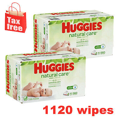 Huggies Natural Care Unscented Baby Wipes, Sensitive, 1120 Count