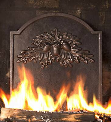 Cast Iron Fireplace Fireback with Oak Leaf Design - Free Shipping