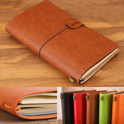 Vintage Retro Luxury Leather Cover Journal Travel Note book Travellers Diary
