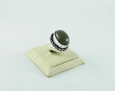 Handmade Camel Jasper Gemstone 925 Silver Plated Adjustable Ring Jewelry GS-2