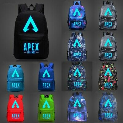 APEX LEGENDS Backpack School Bag Kids Boys Students Cavas Bag Logo Luminous Bags