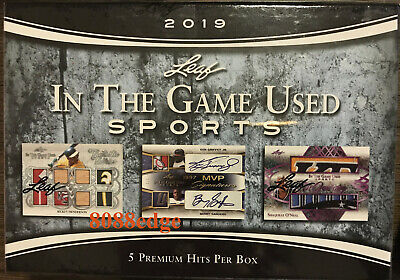 2019 Leaf In The Game-Used Multi-Sports Factory Sealed Box - 5 Premium Hits Per