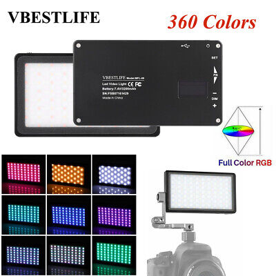 VBESTLIFE RGB LED Fill Light Camera Video Photography Panel Lamp for Camcorder G