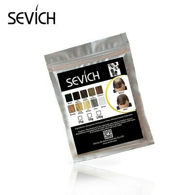 Sevich HAIR BUILDING FIBERS REFILL 100 gram DARK BROWN - DONKERBRUIN