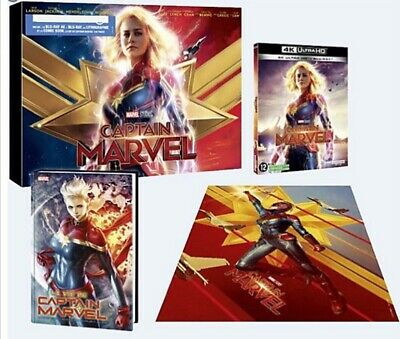 Captain Marvel - Coffret Blu-ray 4K Ultra HD + Comic Book + Litho - Exclusif