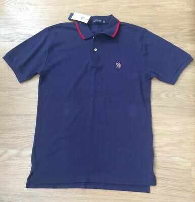 U.S.Polo Assn Men/'s Polo T-Shirt in Blue//Black Stripe BLUBLK-30