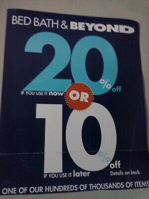 Bed Bath Beyond 20% off 1 Item *** 1 Online Coupon or at Store*** Exp 12/26/2019