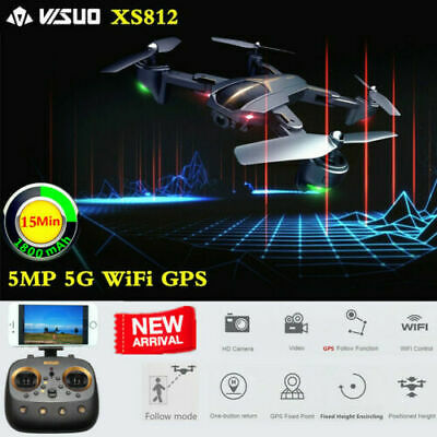 Dron VISUO XS812 RC GPS 5G WIFI FPV mit Cámara 5MP 1080P HD RC Drone Quadcopter