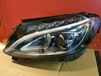 MERCEDES C CLASS W205 Headlight L e d High Performance Complete Passenger  Side