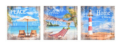 JOB LOT 12 Canvas Prints - Beach Surf Signs Printed Wall Art Decoration