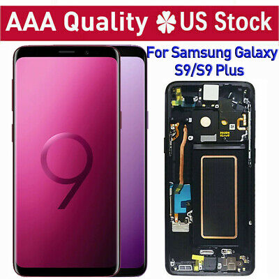 For Samsung Galaxy S9 S9 Plus LCD Screen Touch Digitizer Replacement+Frame Black