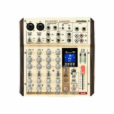 PHONIC AM6GE MIXER 6 CANALI con Bluethoot Registratore e interfaccia USB New