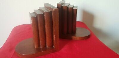 Wooden Book Ends.