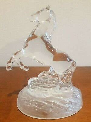 Vintage Crystal Glass Horse Figurine Ornament Collectable crystal D'arques