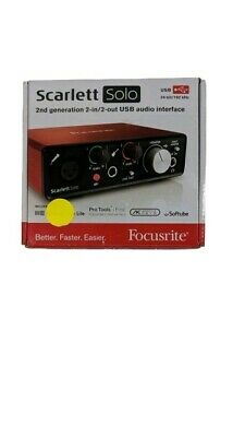 Focusrite Scarlett Solo 2nd Gen USB Audio Interface with Pro Tools