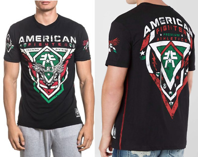 AMERICAN FIGHTER Mens T-Shirt IRWINDALE Athletic MEXICO COLORS Biker Gym $40