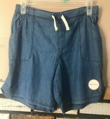 Wonder Nation Girls Plus Jean Chambray Bermuda Shorts 14-16 Plus NWT