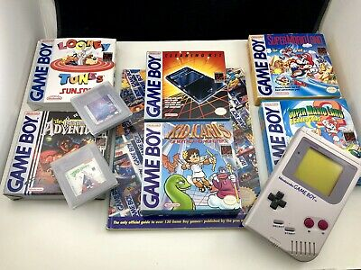 Vintage Nintendo Game Boy DMG-01 Handheld 7 Games Accessories Lot Tested Fine