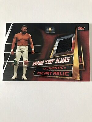 Topps WWE Slam Attax Andrade Cien Almas Nxt Takeover Ring Mat Relic