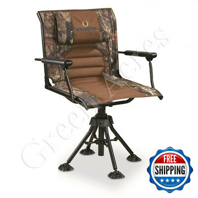 Chair Hunting Armrest Blind Camo 360 Swivel Foldable Portable Travel Outdoor New