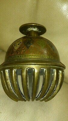 Vintage  Indian / Asian Decorated Brass  Claw Temple Bell 1.02  KG  Heavy Large