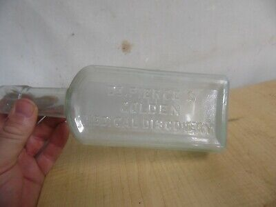 Vintage Estate Find Dr. Pierce's Golden Medical Discovery  Embossed  Bottle