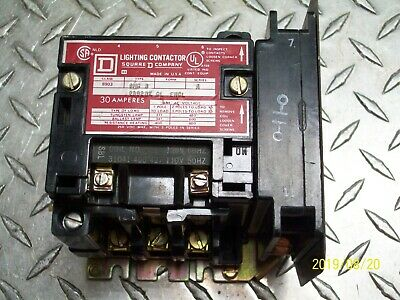 Square D 8903 Smg3 30 Amp 30A Lighting Contactor 600Vac 120V Coil