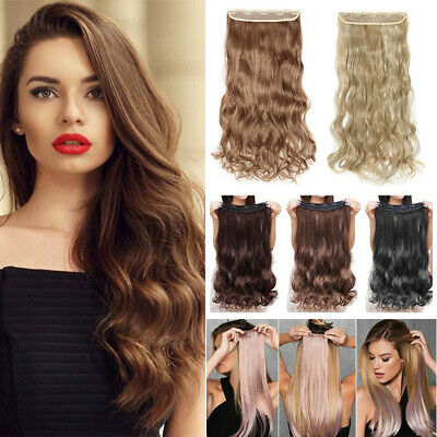 On CLEARANCE Clips In Hair Extensions FULL Head For Human Hairpiece Real THICK