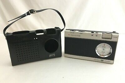 Vintage Ross Portable AM/FM Transistor Radio with Carrying Case