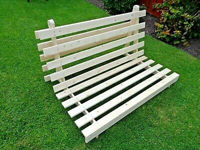 Excellent Kyoto Mito Wooden Futon Sofa Bed Frame Double 4Ft 6In Base Spiritservingveterans Wood Chair Design Ideas Spiritservingveteransorg