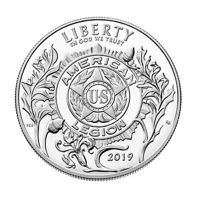 2019-P US American Legion Commemorative Proof Silver Dollar in OGP